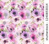 watercolor seamless pattern... | Shutterstock . vector #1240853014