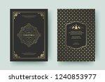 christmas greeting card design...   Shutterstock .eps vector #1240853977