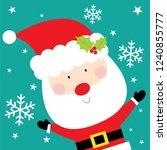 santa christmas greeting card | Shutterstock .eps vector #1240855777