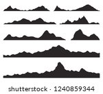 mountains silhouettes on the... | Shutterstock .eps vector #1240859344