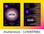 techno music poster. wave flyer ... | Shutterstock .eps vector #1240859881
