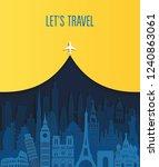 world famous monuments. travel... | Shutterstock .eps vector #1240863061