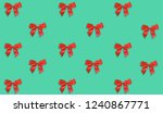 red decorative bow pattern on...   Shutterstock . vector #1240867771