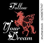 stylish trendy slogan tee t... | Shutterstock .eps vector #1240870747
