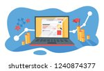 ppc pay per click advertising... | Shutterstock .eps vector #1240874377