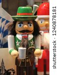 cute bavarian nutcracker doll... | Shutterstock . vector #1240878181