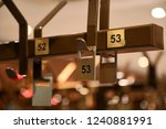 detail of numbers in a cloakroom | Shutterstock . vector #1240881991