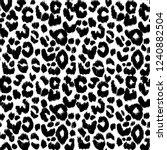 vector leopard gepard seamless... | Shutterstock .eps vector #1240882504