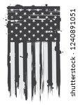 grunge american flag.vector usa ... | Shutterstock .eps vector #1240891051