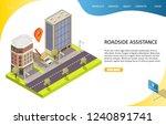 roadside assistance landing...   Shutterstock .eps vector #1240891741