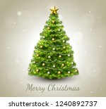 merry christmas greeting card... | Shutterstock . vector #1240892737