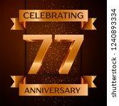 realistic seventy seven years...   Shutterstock . vector #1240893334