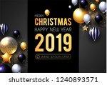 happy new 2019 year  shining... | Shutterstock .eps vector #1240893571