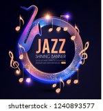 jazz concert poster template... | Shutterstock .eps vector #1240893577