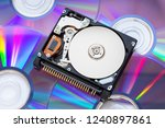 the compact hard disk form... | Shutterstock . vector #1240897861