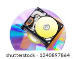 the compact hard disk form... | Shutterstock . vector #1240897864