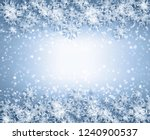 snowflakes and stars descending ... | Shutterstock . vector #1240900537