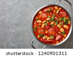 hearty beans stew with sausages ...