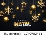 feliz natal. merry christmas.... | Shutterstock .eps vector #1240902481