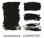 calligraphy paint brush... | Shutterstock .eps vector #1240907107