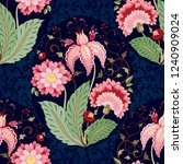 floral seamless background.... | Shutterstock . vector #1240909024