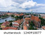 view of wroclaw poland from... | Shutterstock . vector #1240910077