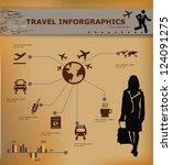 travel concept transportation... | Shutterstock .eps vector #124091275