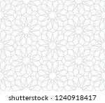 seamless gray oriental pattern. ... | Shutterstock .eps vector #1240918417