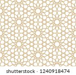 seamless gold oriental pattern. ... | Shutterstock .eps vector #1240918474