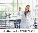 asia scientific researcher... | Shutterstock . vector #1240924501