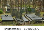 Old Cemetery In The Dutch Town...