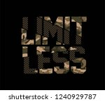 limitless camouflage sliced... | Shutterstock .eps vector #1240929787