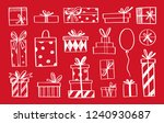 vector set of doodle icons of... | Shutterstock .eps vector #1240930687