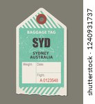 vintage luggage tag  retro... | Shutterstock .eps vector #1240931737