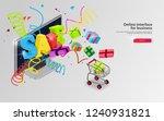 volume inscription sale on the... | Shutterstock .eps vector #1240931821