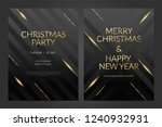luxury christmas party poster... | Shutterstock .eps vector #1240932931