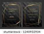 luxury christmas party poster... | Shutterstock .eps vector #1240932934