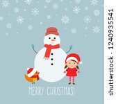 merry christmas greeting card... | Shutterstock .eps vector #1240935541