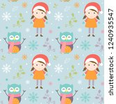 merry christmas pattern with... | Shutterstock .eps vector #1240935547
