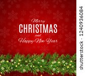 merry christmas and new year... | Shutterstock .eps vector #1240936084