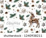 christmas decorative background ... | Shutterstock .eps vector #1240938211