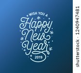 happy new year lettering... | Shutterstock .eps vector #1240947481