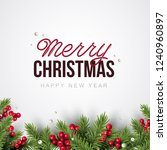 merry christmas background.... | Shutterstock .eps vector #1240960897