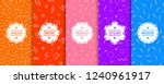 collection of bright colorful... | Shutterstock .eps vector #1240961917