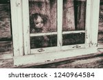 ghost mystic doll smiling.... | Shutterstock . vector #1240964584