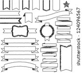 vector set of hand drawn doodle ... | Shutterstock .eps vector #124096567