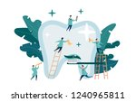group of small dentists are... | Shutterstock .eps vector #1240965811