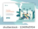 web page design. family doctor. ... | Shutterstock .eps vector #1240965934