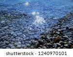reflection of the sun in the sea | Shutterstock . vector #1240970101