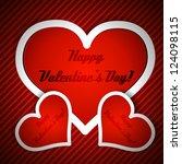 valentine's day vector...   Shutterstock .eps vector #124098115